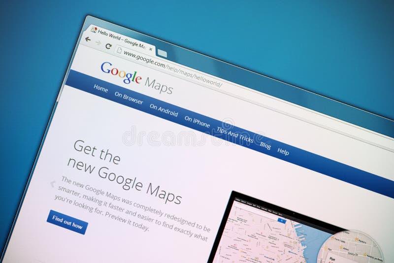 Το νέο Google Maps στοκ εικόνες με δικαίωμα ελεύθερης χρήσης