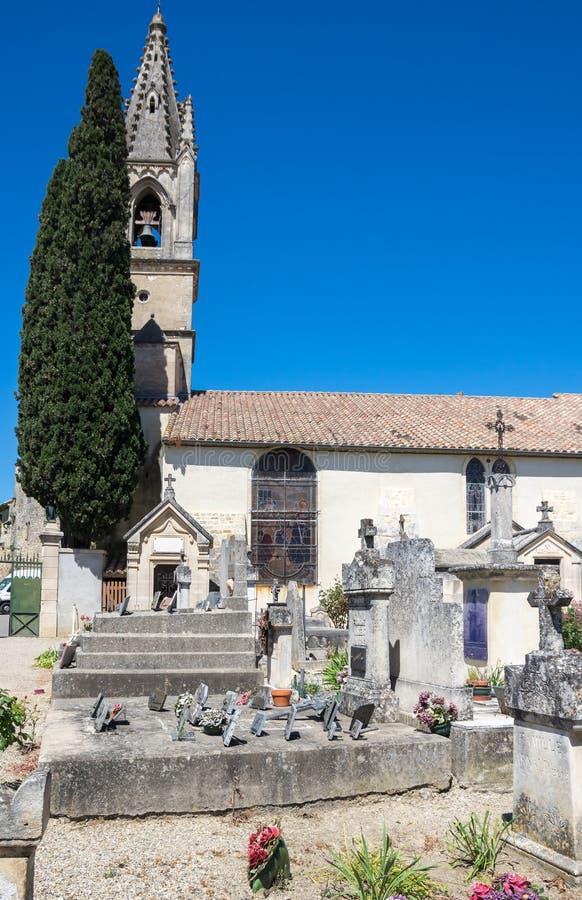 Το νεκροταφείο Aigueze στοκ εικόνες