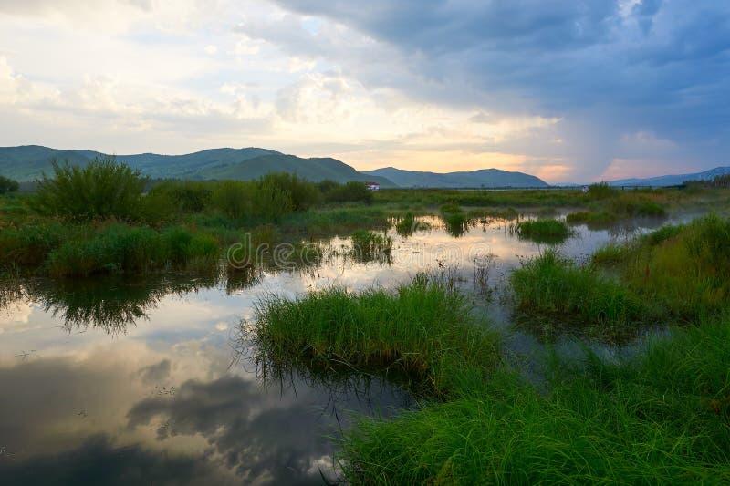 Το νερό ποταμού το θερινό πρωί στοκ εικόνα με δικαίωμα ελεύθερης χρήσης