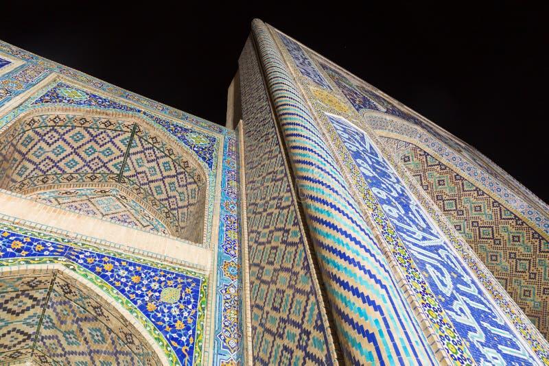 Το ντιβάνι-Begi Madrasah ναδίρ είναι ένα μέρος αρχιτεκτονικού του σύνθετου που βρίσκεται γύρω από γνωστό lyabi-Hauz στη Μπουχάρα στοκ εικόνα