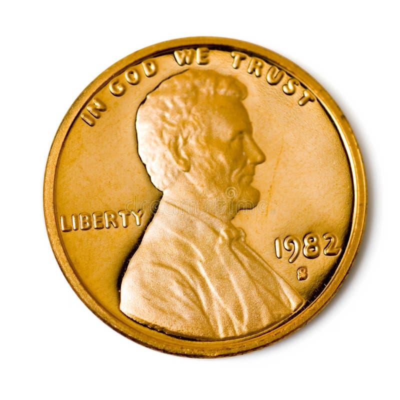 το νόμισμα ένα σεντ τέλειο στοκ εικόνες με δικαίωμα ελεύθερης χρήσης