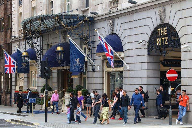 Το ξενοδοχείο πολυτελείας Ritz στοκ εικόνες