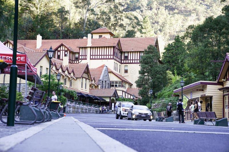 Το ξενοδοχείο σπηλιών Jenolan είναι ένα μεγάλο, κληρονομιά-απαριθμημένο ξενοδοχείο, που χτίζεται στοκ φωτογραφίες