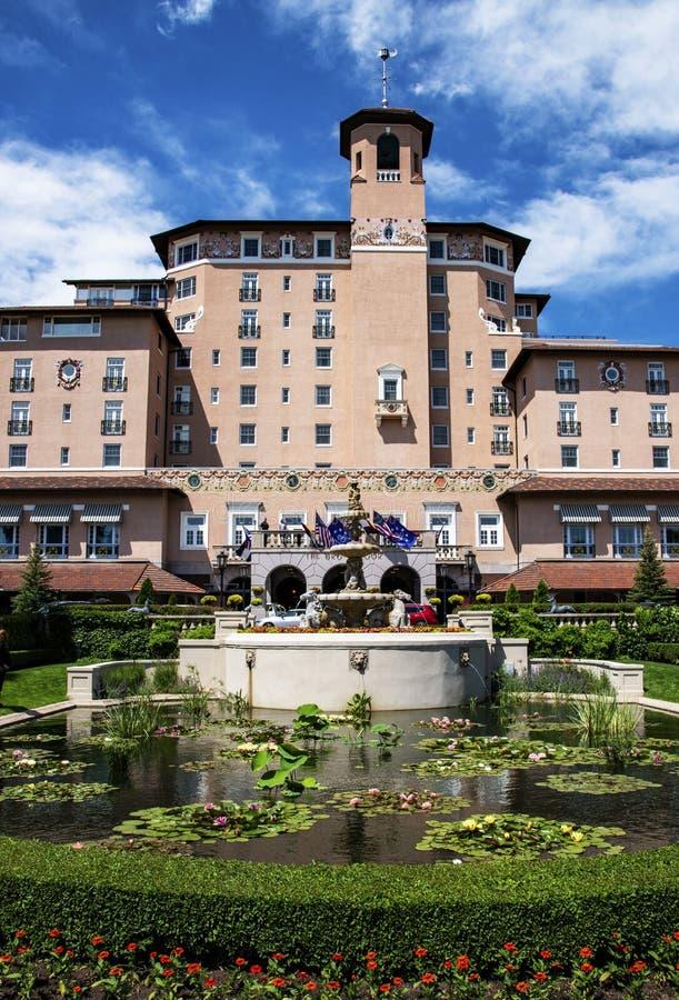 Το ξενοδοχείο Broadmoor, πέντε αστέρια, στο Colorado Springs στοκ φωτογραφία