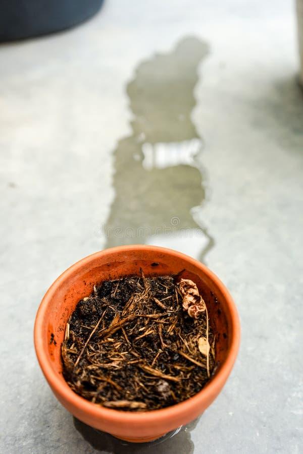 Το ξηρό δοχείο τόνου έλαβε ακριβώς το νερό στοκ φωτογραφία με δικαίωμα ελεύθερης χρήσης