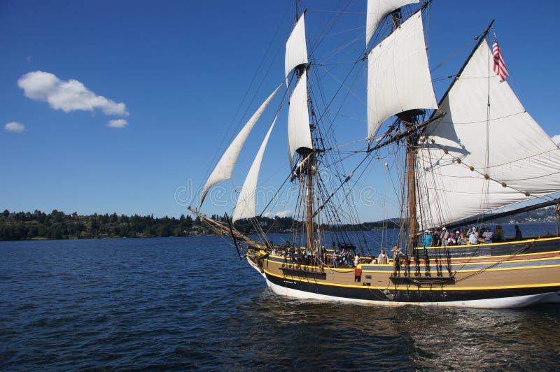 Το ξύλινο brig, κυρία Washington στοκ φωτογραφία