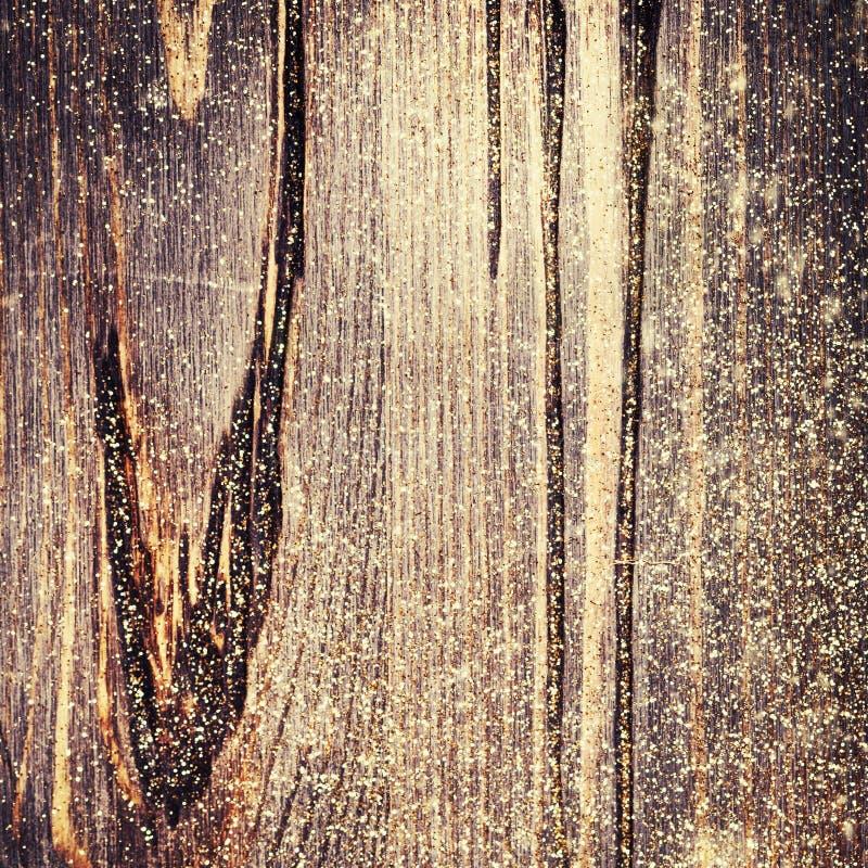 Το ξύλινο κατασκευασμένο υπόβαθρο με ακτινοβολεί μπλε πλαίσιο Χριστουγέν&nu στοκ εικόνες με δικαίωμα ελεύθερης χρήσης