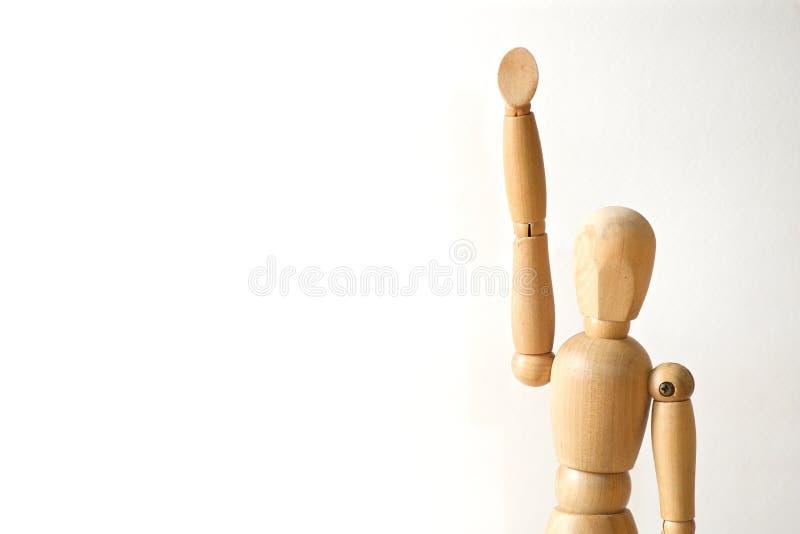 Το ξύλινο πρότυπο αυξάνει το χέρι του στοκ φωτογραφία με δικαίωμα ελεύθερης χρήσης