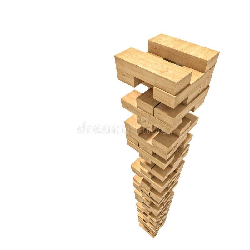 Το ξύλο εμποδίζει το παιχνίδι πύργων ελεύθερη απεικόνιση δικαιώματος