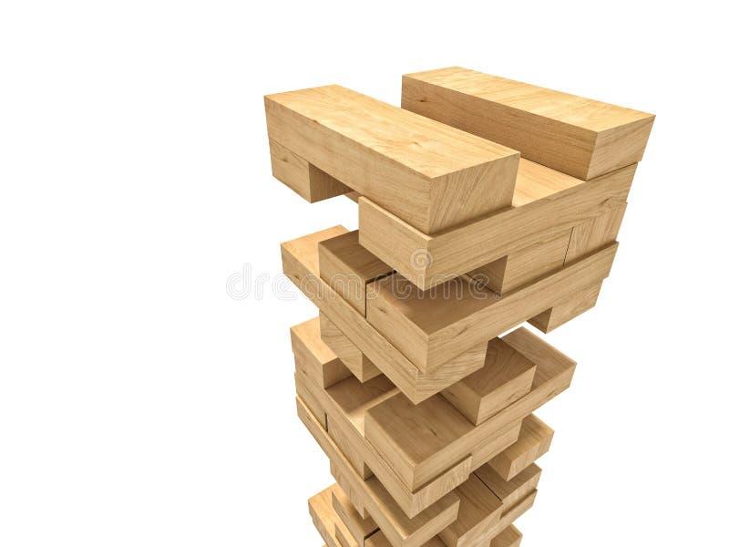 Το ξύλο εμποδίζει το παιχνίδι πύργων διανυσματική απεικόνιση