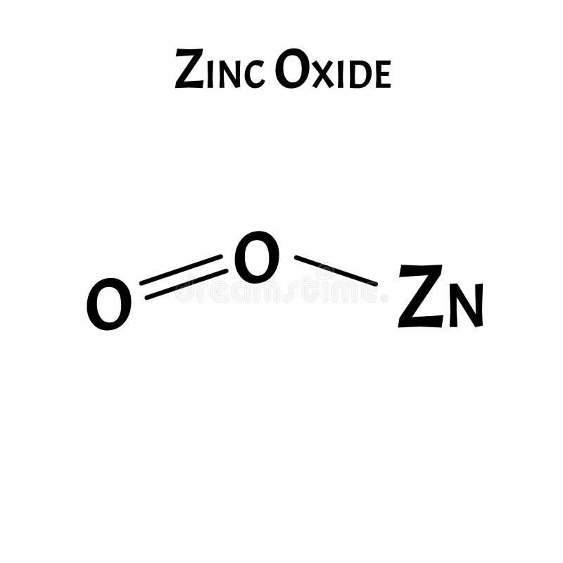 Το οξείδιο του ψευδαργύρου είναι ένας μοριακός χημικός τύπος Γραφικά ψευδαργύρου Απεικόνιση διανύσματος σε απομονωμένο φόντο απεικόνιση αποθεμάτων
