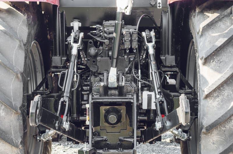 το οπίσθιο τμήμα, όχημα, αυτοκίνητο, ρυμούλκηση, μηχανή, ιδιωτική, μέρος, τρακτέρ-που τοποθετείται, για, τύπος, ατύχημα, φορτίο,  στοκ εικόνες