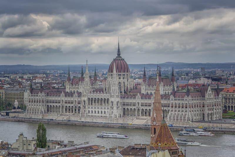 Το ουγγρικό Κοινοβούλιο στη Βουδαπέστη, Ουγγαρία στοκ εικόνα