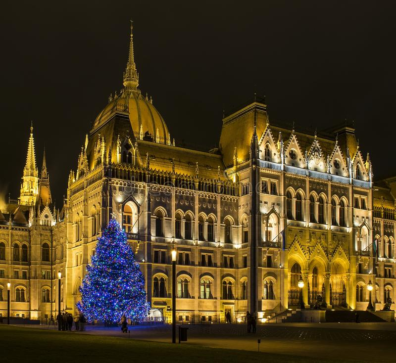 το ουγγρικό Κοινοβούλ&iot στοκ εικόνες