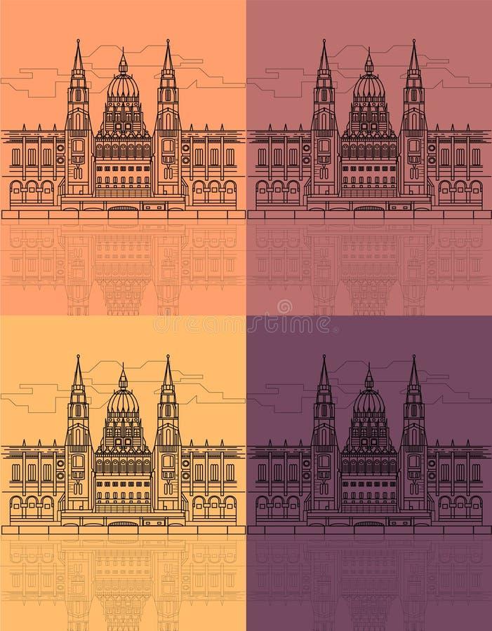 Το ουγγρικό κτήριο του Κοινοβουλίου ελεύθερη απεικόνιση δικαιώματος