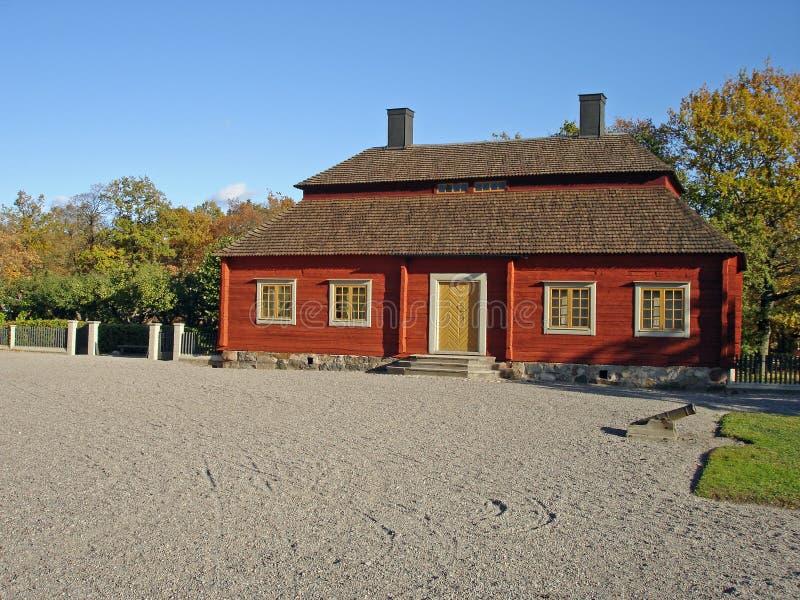 το πάρκο σπιτιών η Στοκχόλμ&e στοκ φωτογραφίες