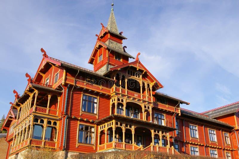 το πάρκο του Όσλο ξενοδοχείων στοκ φωτογραφίες