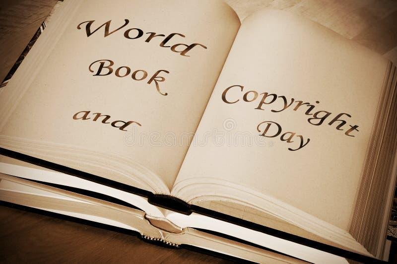 Παγκόσμιο βιβλίο και ημέρα πνευματικών δικαιωμάτων στοκ εικόνα με δικαίωμα ελεύθερης χρήσης