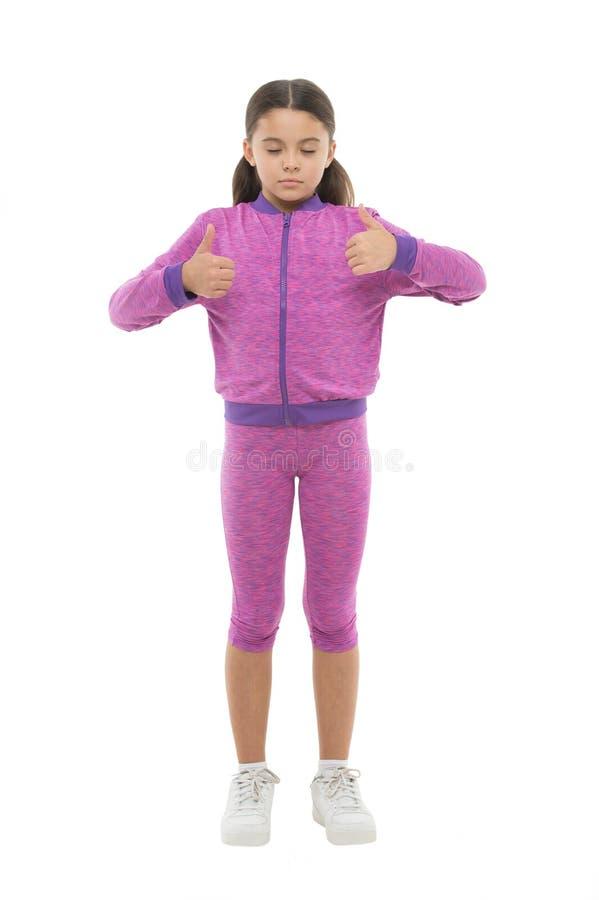 Το παιδί παρουσιάζει αντίχειρα Ευτυχής συνολικά ερωτευμένος τρυφερός κοριτσιών ή συστήνει ιδιαίτερα Αντίχειρας επάνω στο approvem στοκ φωτογραφία με δικαίωμα ελεύθερης χρήσης