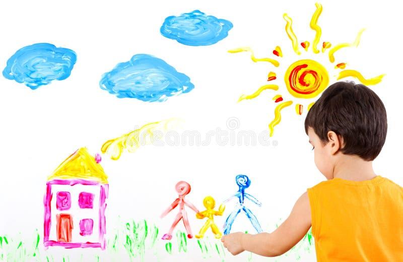 το παιδί τέχνης δημιουργ&epsilon στοκ φωτογραφία