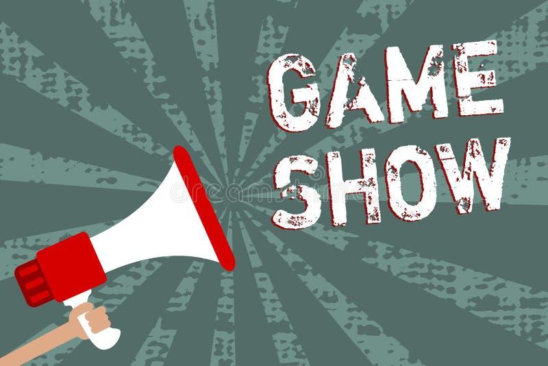 Το παιχνίδι κειμένων γραψίματος λέξης παρουσιάζει Επιχειρησιακή έννοια για το πρόγραμμα στην τηλεόραση ή το ραδιόφωνο με τους φορ διανυσματική απεικόνιση