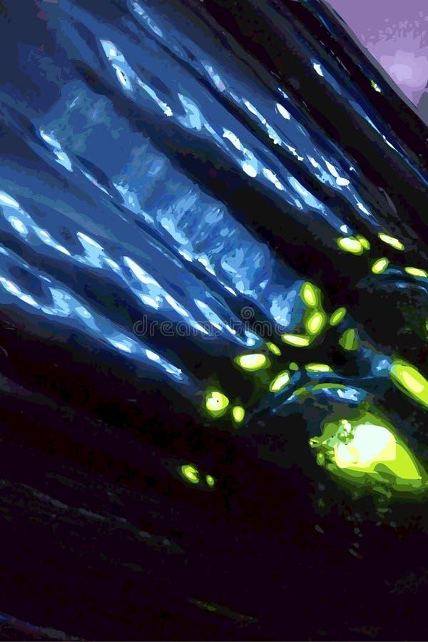 Το παιχνίδι του φωτός μέσω του γυαλιού διανυσματική απεικόνιση