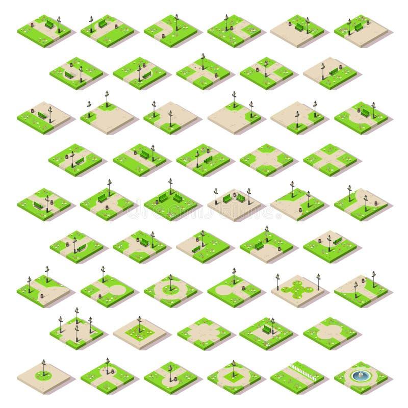 Το παιχνίδι έθεσε την οικοδόμηση 14 Isometric ελεύθερη απεικόνιση δικαιώματος