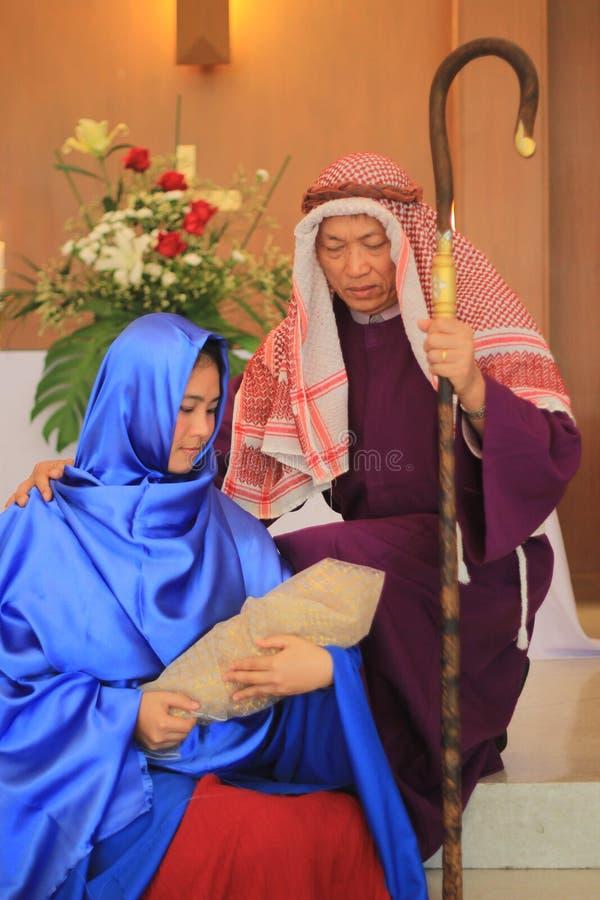 Το παιχνίδι Nativity στοκ εικόνες με δικαίωμα ελεύθερης χρήσης