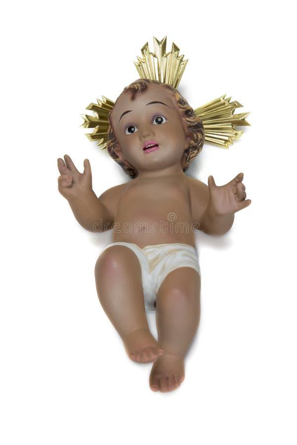 Το παιδί Ιησούς απομόνωσε σε ένα άσπρο υπόβαθρο στοκ εικόνα