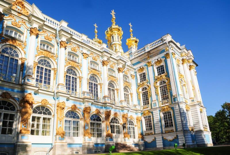 Το παλάτι της Αικατερίνης στην Αγία Πετρούπολη, Ρωσία στοκ εικόνα