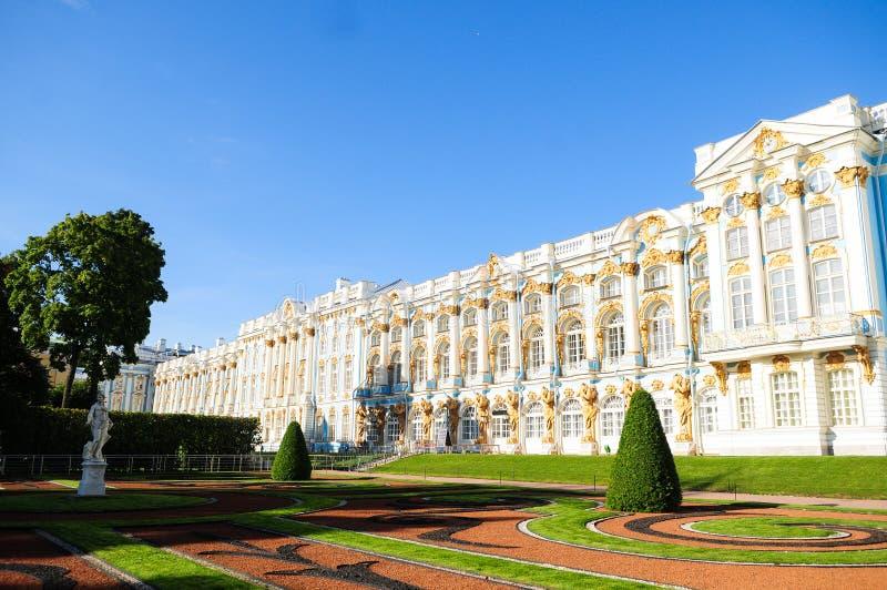 Το παλάτι της Αικατερίνης στην Αγία Πετρούπολη, Ρωσία στοκ εικόνες