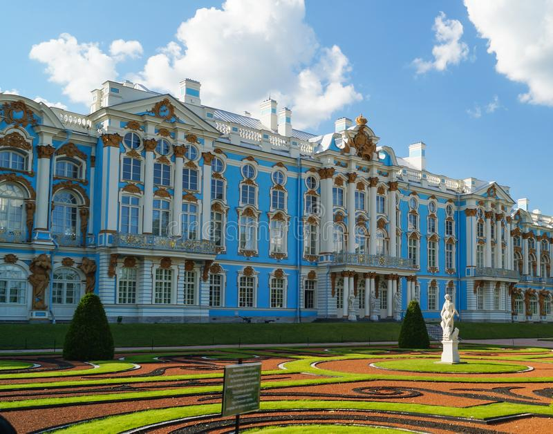 Το παλάτι της Catherine που βρίσκεται στην πόλη Tsarskoye Selo Pushkin, Αγία Πετρούπολη στοκ εικόνες