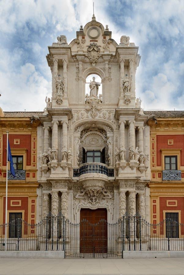 Το παλάτι του SAN Telmo είναι ένα ιστορικό οικοδόμημα στη Σεβίλη, νότια Ισπανία στοκ φωτογραφία με δικαίωμα ελεύθερης χρήσης