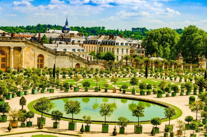 Το παλάτι των Βερσαλλιών καλλιεργεί ner Παρίσι, Γαλλία στοκ εικόνα με δικαίωμα ελεύθερης χρήσης