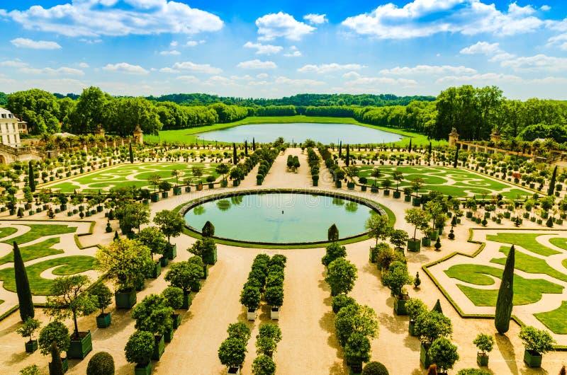 Το παλάτι των Βερσαλλιών καλλιεργεί newr Παρίσι, Γαλλία στοκ εικόνες