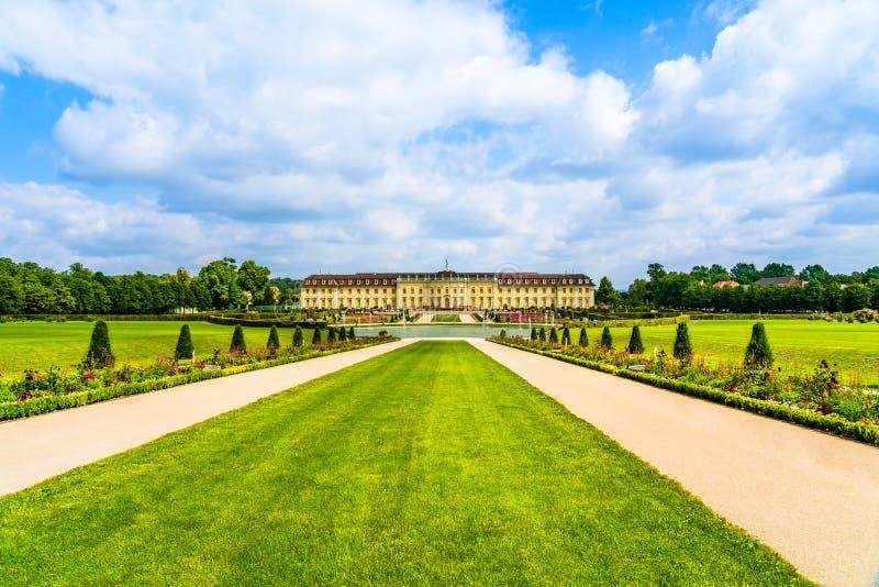 Το παλάτι Ludwigsburg και οι κήποι στο Ludwigsburg, νέα Στουτγάρδη, Baden-Württemberg, Γερμανία στοκ εικόνες