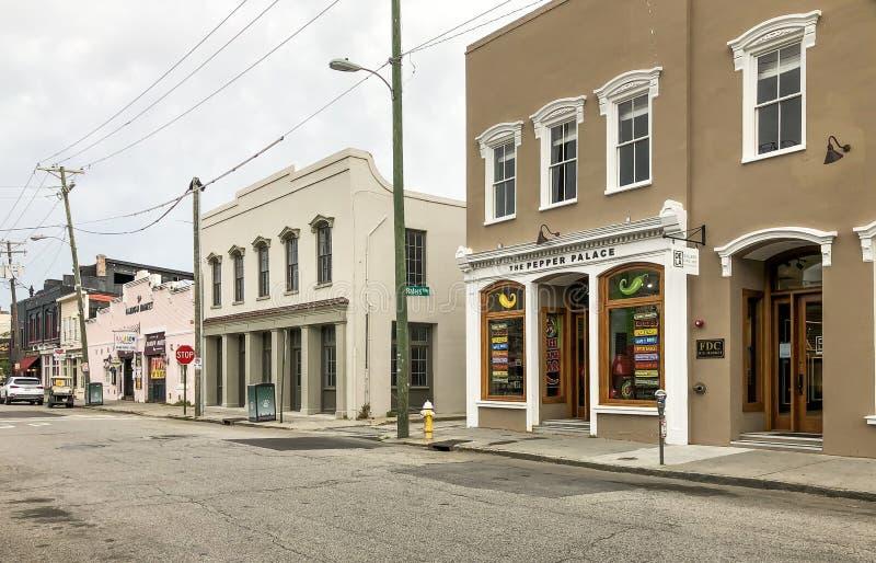 Το παλάτι Pepper στην οδό North Market, Charleston, SC στοκ εικόνες