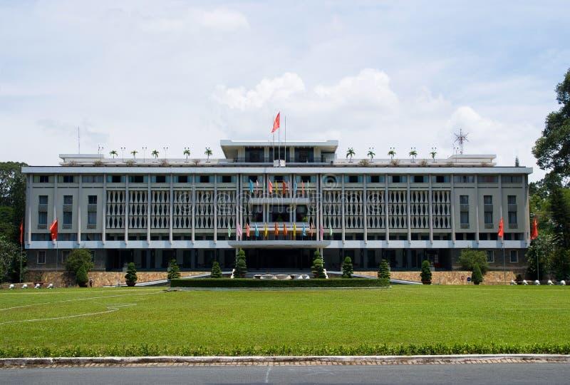 Το παλάτι Reuinification στη πόλη Χο Τσι Μινχ στοκ εικόνα