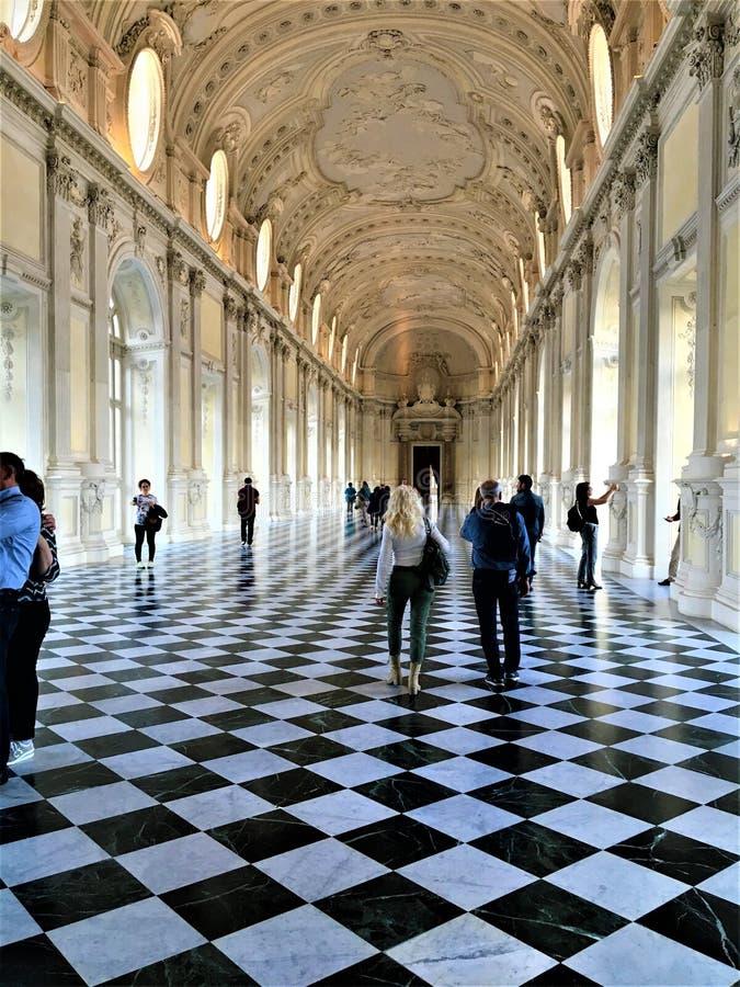 Το παλάτι Venaria στην πόλη του Τορίνου, Piedmont περιοχή, της Ιταλίας Τέχνη, ιστορία και τουρισμός στοκ εικόνες