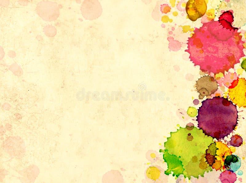 το παλαιό έγγραφο χρωμάτων  ελεύθερη απεικόνιση δικαιώματος