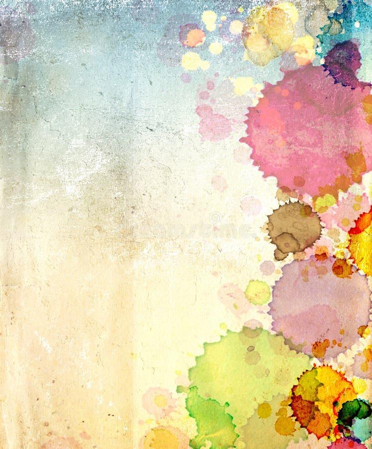 το παλαιό έγγραφο χρωμάτων  στοκ φωτογραφία με δικαίωμα ελεύθερης χρήσης