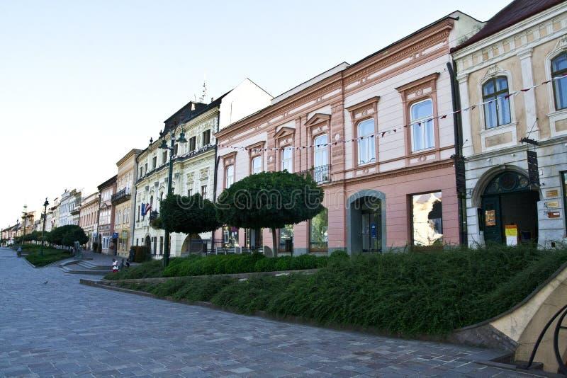 Το παλαιό, ιστορικό κέντρο πόλεων, Presov, Σλοβακία, Ευρώπη στοκ εικόνα