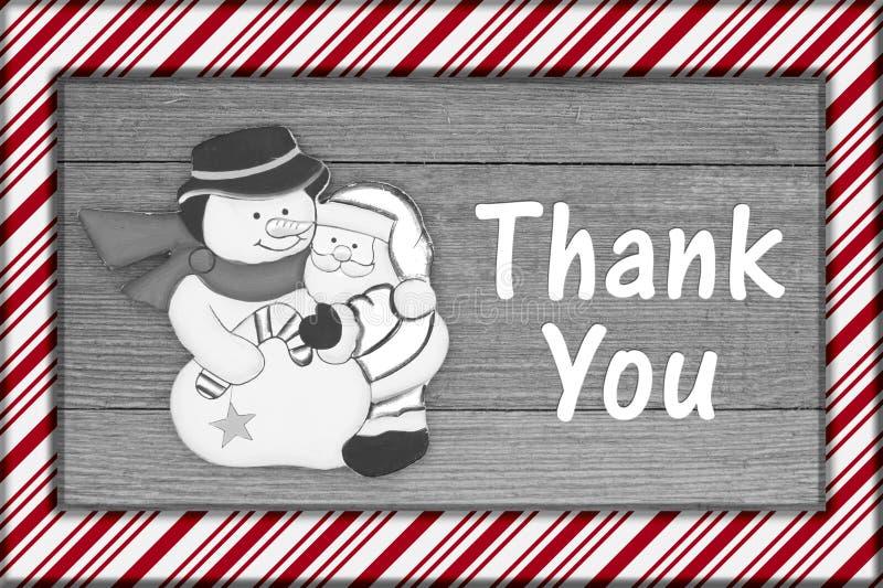 Το παλαιό μήνυμα Χριστουγέννων μόδας σας ευχαριστεί στοκ εικόνες