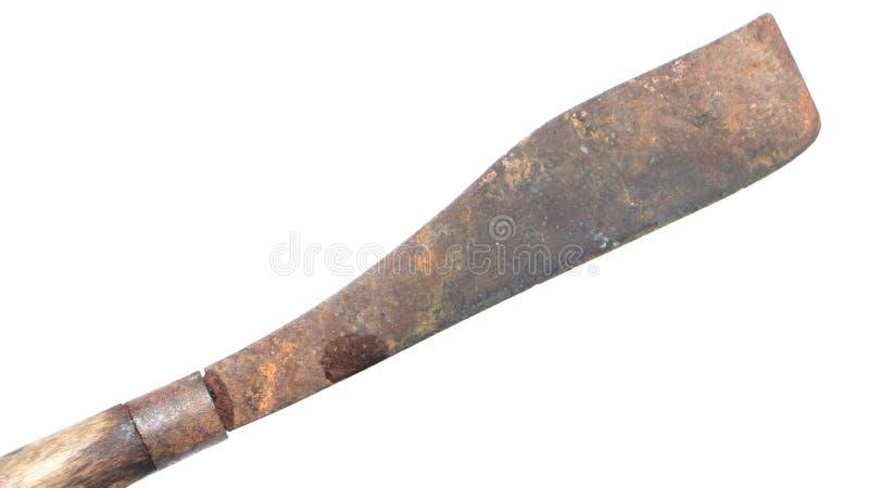 Το παλαιό μαχαίρι απομόνωσε το λευκό στοκ εικόνα