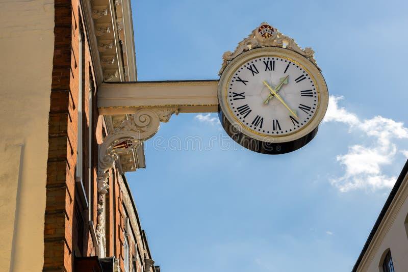 Το παλαιό ρολόι ανταλλαγής καλαμποκιού στο Ρότσεστερ στις 24 Μαρτίου 2019 στοκ φωτογραφία με δικαίωμα ελεύθερης χρήσης