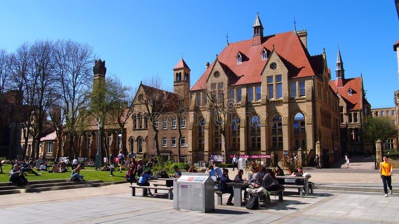 Το πανεπιστήμιο οδική πανεπιστημιούπολη του Μάντσεστερ, Οξφόρδη, Αγγλία στοκ εικόνες