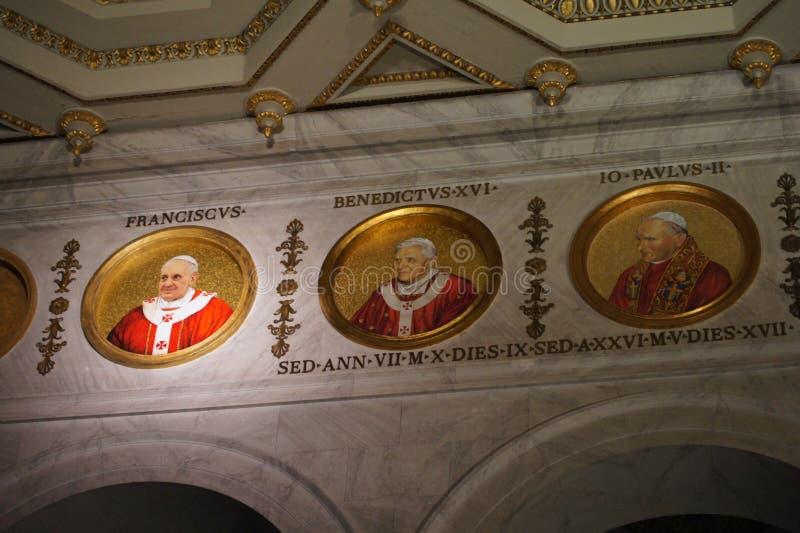 Το παπικό fuori LE Mura βασιλικών SAN Paolo στοκ εικόνα με δικαίωμα ελεύθερης χρήσης