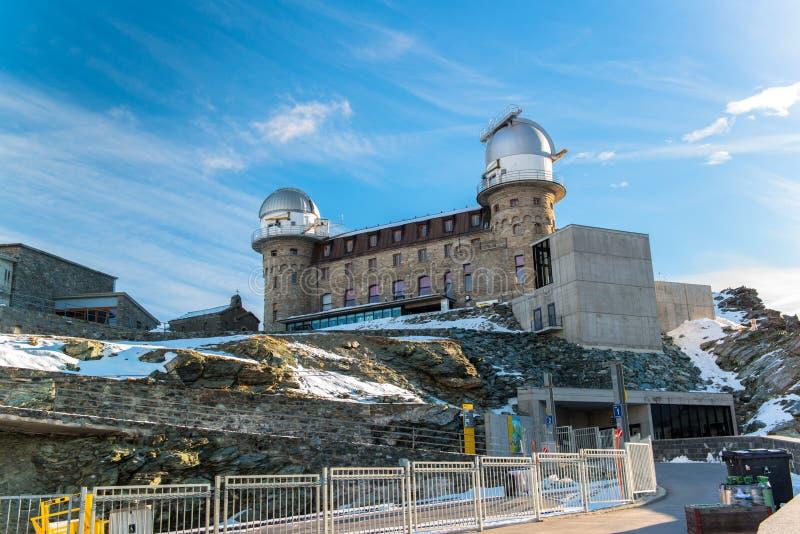 Το παρατηρητήριο Gornergrat και η αιχμή Matterhorn στοκ φωτογραφίες με δικαίωμα ελεύθερης χρήσης