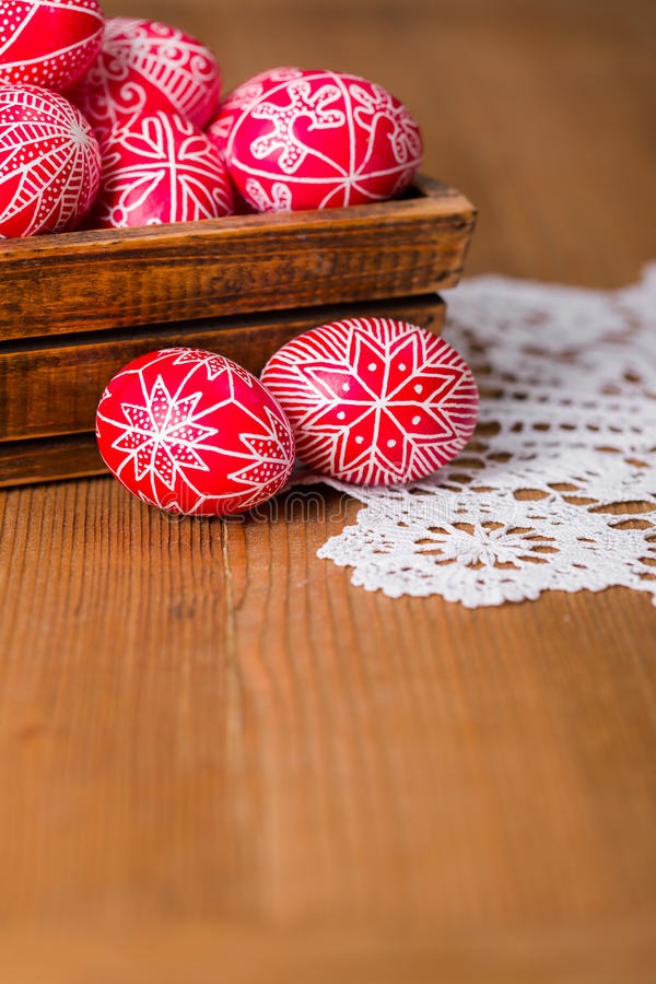 Το παραδοσιακό transylvanian χέρι γραπτό τα αυγά στοκ εικόνα