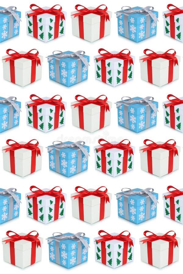 Το παρόν κιβωτίων δώρων δώρων Χριστουγέννων παρουσιάζει το υπόβαθρο ελεύθερη απεικόνιση δικαιώματος